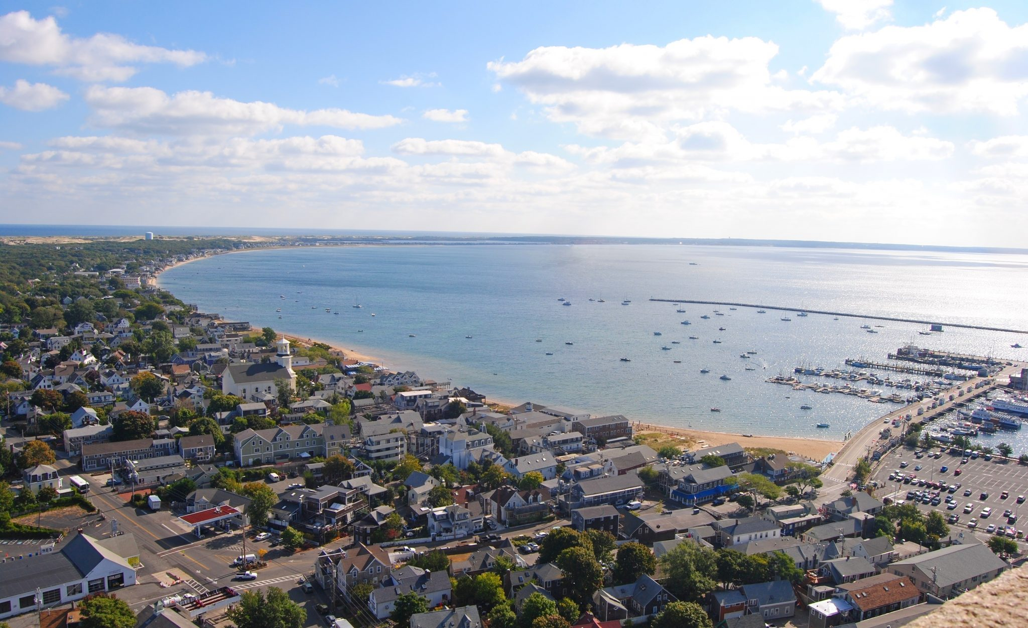 View over Provincetown, Massachusetts